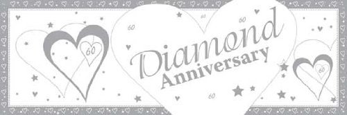 Creative Party 9Ft Diamond Anniversary Foil Banner,60Th Wedding Anniversary  Party Decorations by Party Savvy.