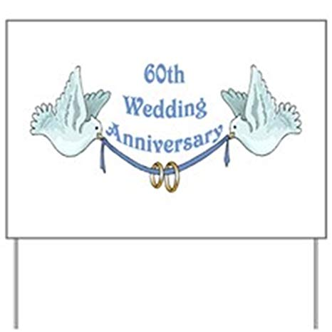CafePress 60th Wedding Anniversary Yard Sign Yard Sign, Vinyl Lawn Sign,  Political Election Sign.