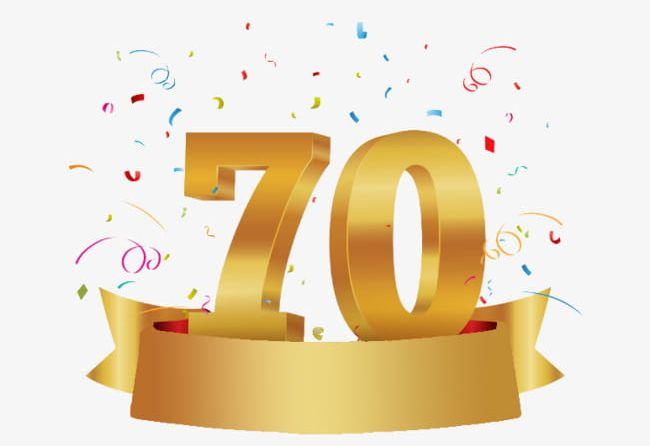 70 Anniversary PNG, Clipart, 70 Clipart, Anniversary Clipart.