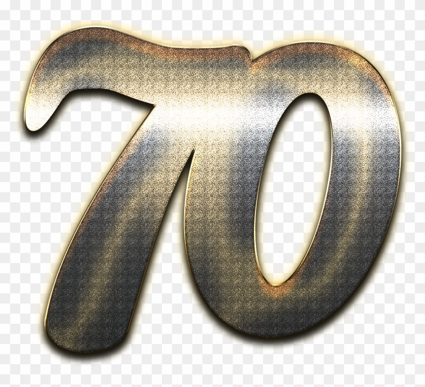 70 Number Style Png.