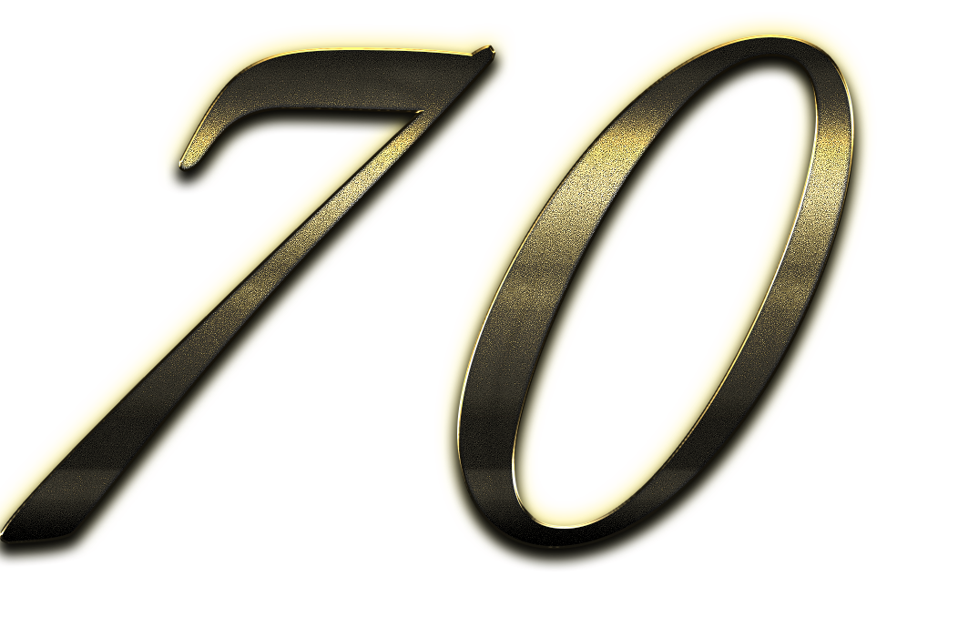 70 Number Clipart PNG.