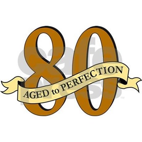 80th Birthday Clipart.