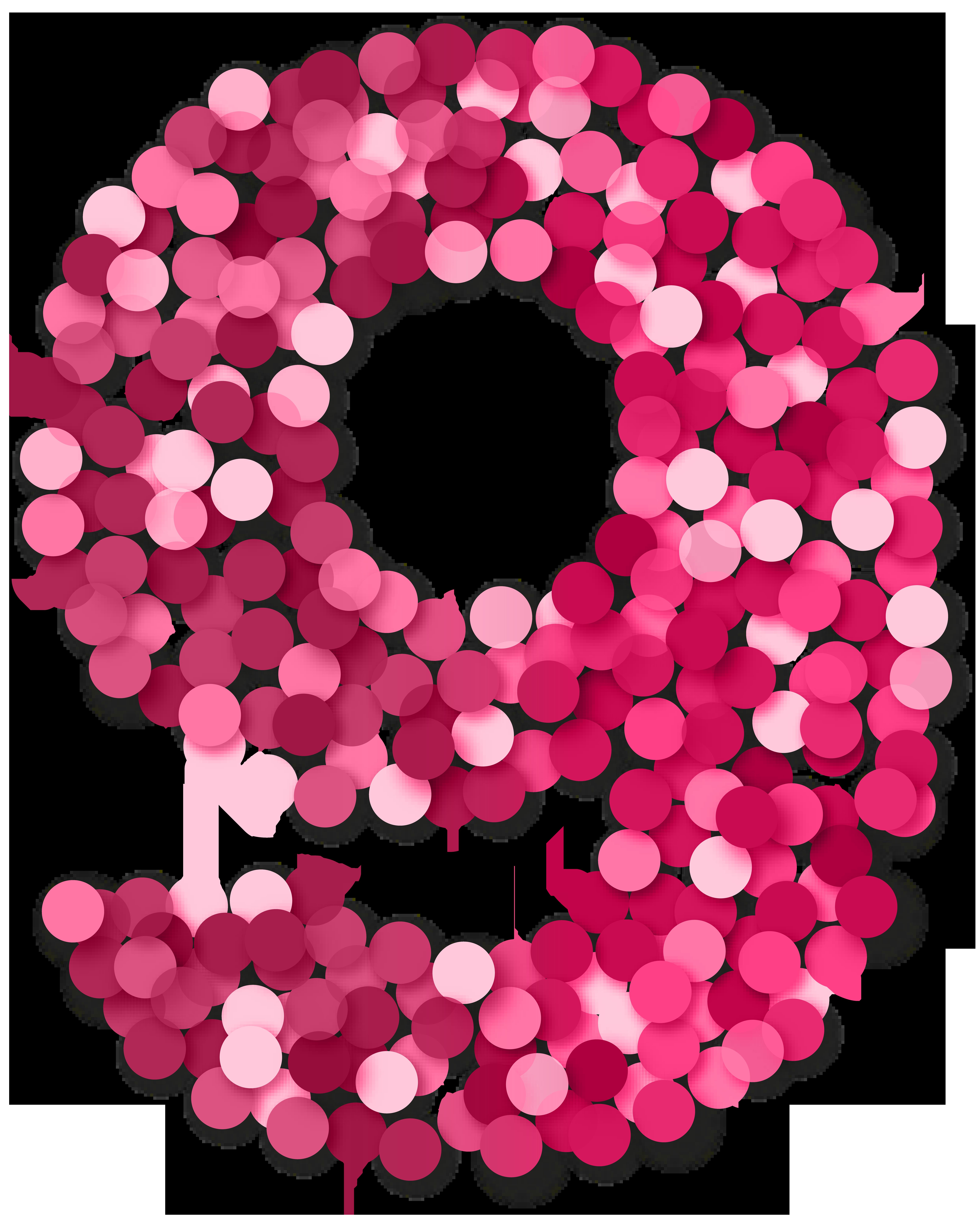 Nine 9 Number Pink PNG Clip Art.