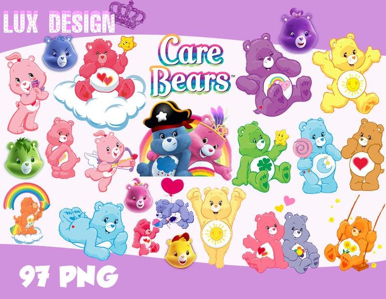 97 Care Bears ClipArt.