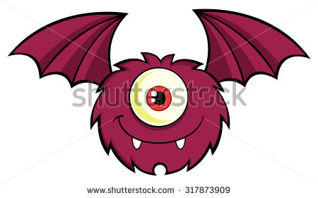 One Eye Monster Stock Images, Royalty.