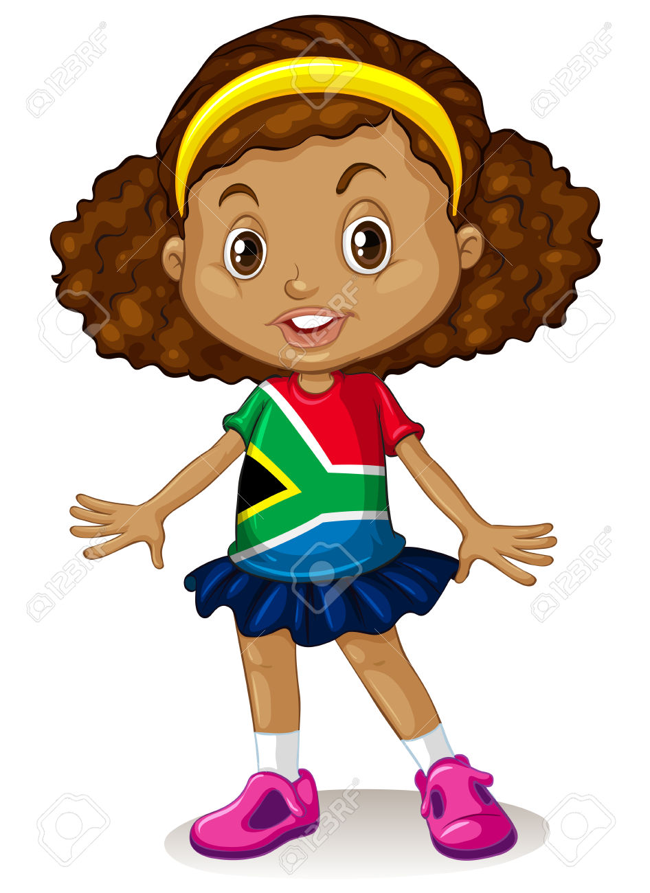 Girl Standing Alone Clipart.