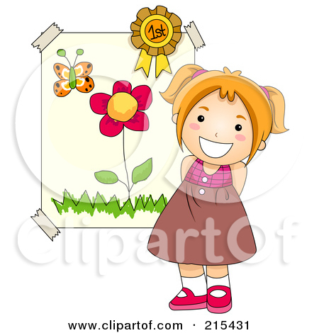 Little Girl Standing Clipart.