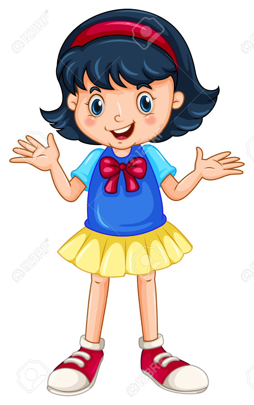 clipart a girl standing clipground