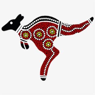 Aboriginal Art Kangaroo , Transparent Cartoon, Free Cliparts.