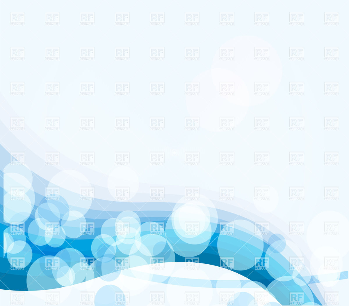 Blue curves and circles abstract design Stock Vector Image.