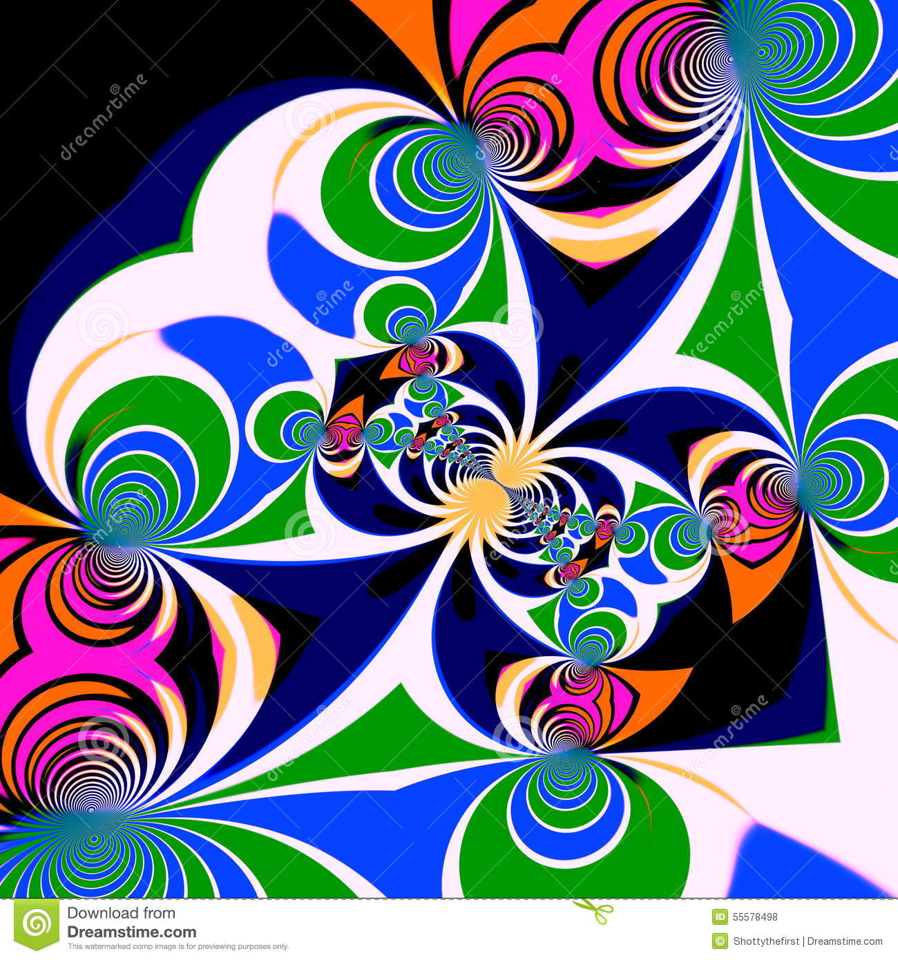 Psychedelic Style Background. Illustration Design. Symmetrical.