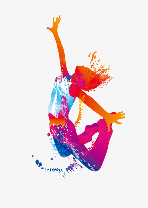 Active Colorful Girls, Dance Studio, Dance, Color Girl PNG.