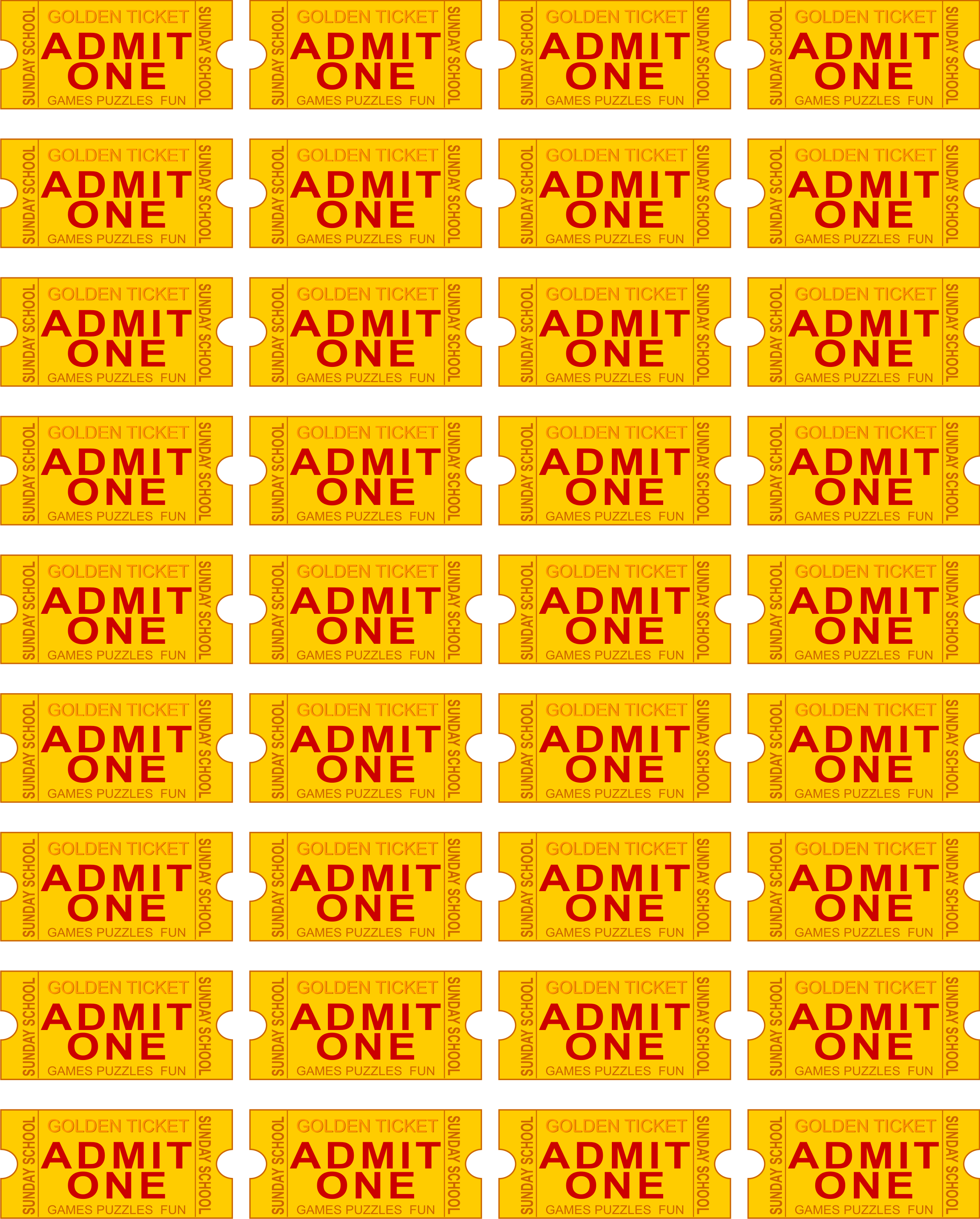Admit One Ticket Clip Art N9 free image.