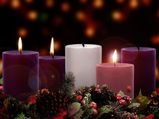 3rd week of advent wreath clipart.