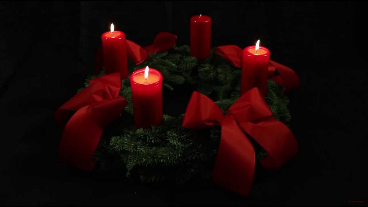 Clipart Advent Wreath Three Candles Lit.