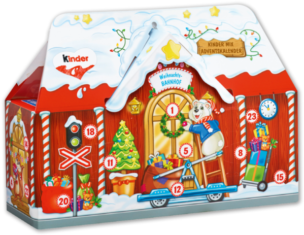 Ferrero Kinder Mix Adventskalender 3 D Haus.