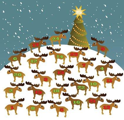Advent calendar Clipart Image.