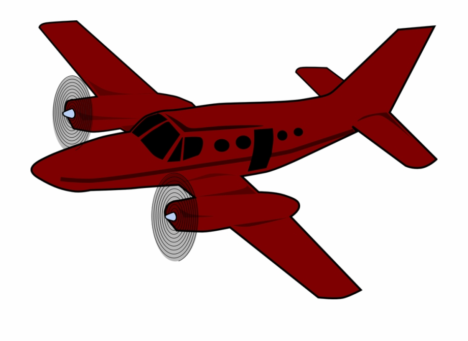 Download Red Aeroplane Clipart Airplane Aircraft Clip.