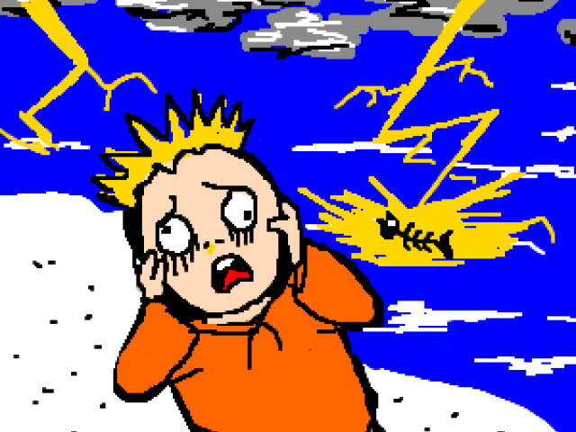 Thunderstorm Hd Clipart Afraid Cartoon Free Unlimited Png.