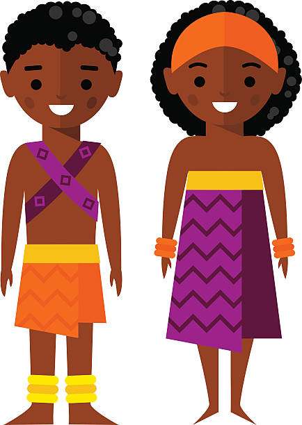 African Children Clipart.
