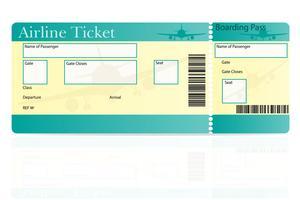 Airplane Ticket Vector.