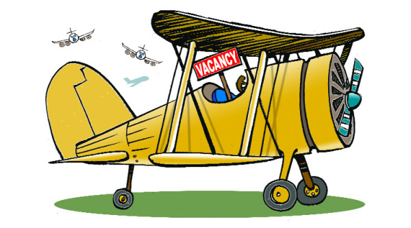 Pilots jostle for jobs as 4,000 apply for 250 slots.
