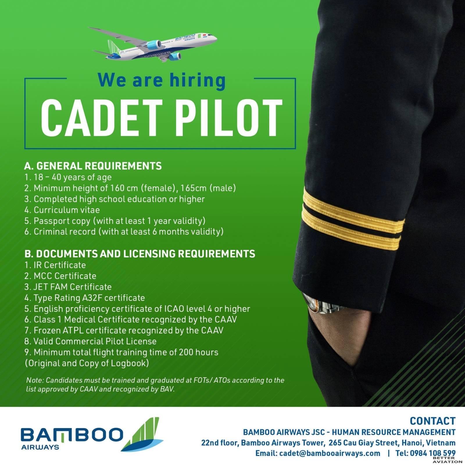Bamboo Airways Cadet Pilot.