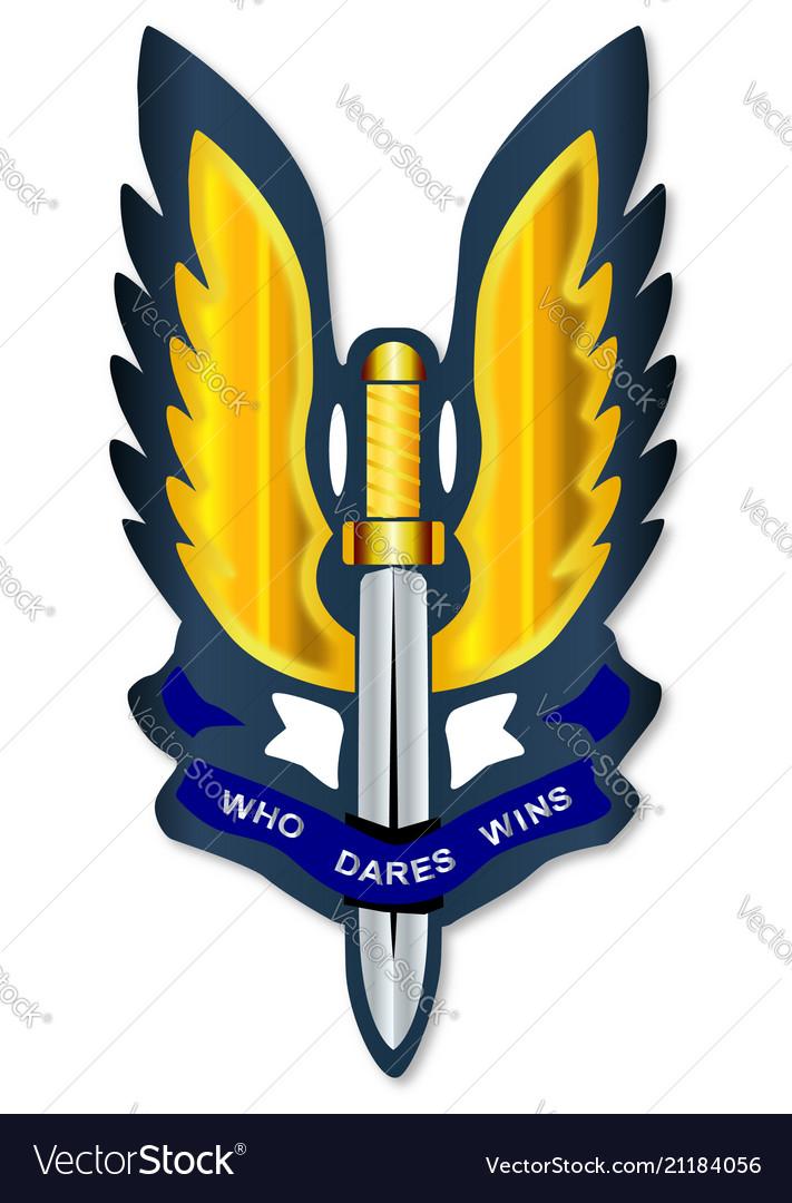 Special air service badge.