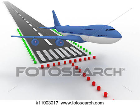 Aircraft take off Stock Photo.