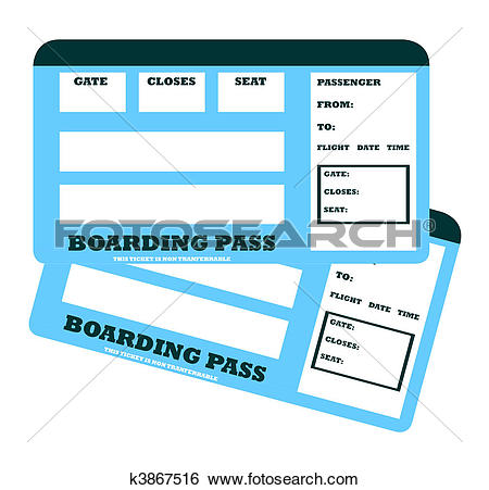 Stock Illustration of Flight ticket k3123635.
