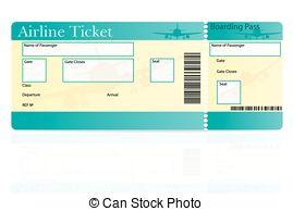 Vector Clip Art of Airline Ticket.