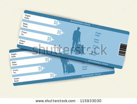 Flight Ticket Stock Images, Royalty.