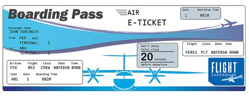 clipart of airplane ticket.
