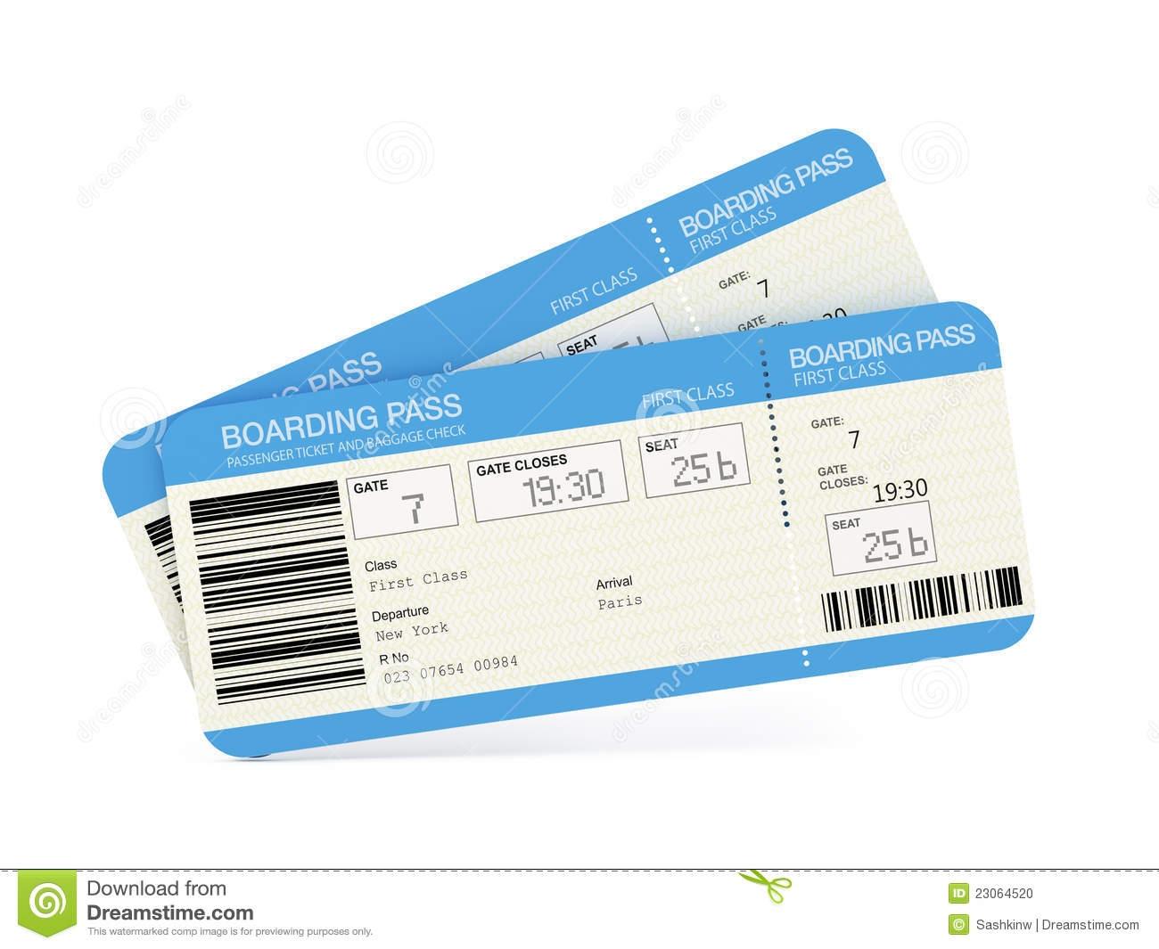 Clip Art Plane Ticket.