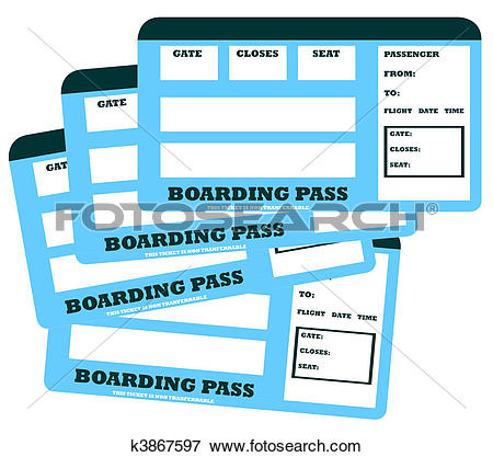 Stock Illustration of Two blank flight tickets k3867516.