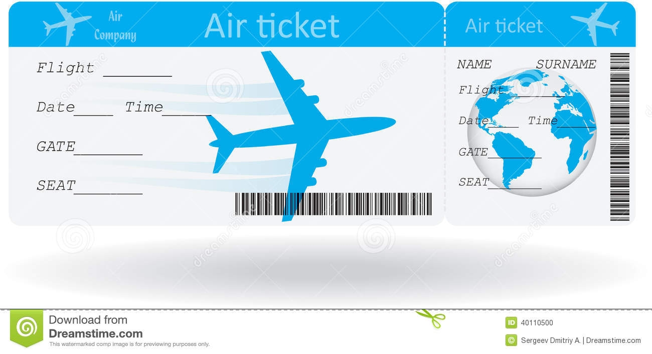 Airplane Ticket Clipart.