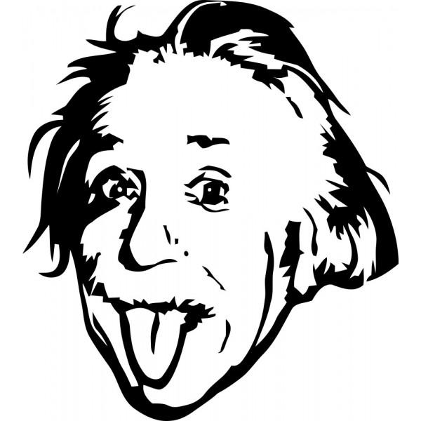Naklejka Albert Einstein.