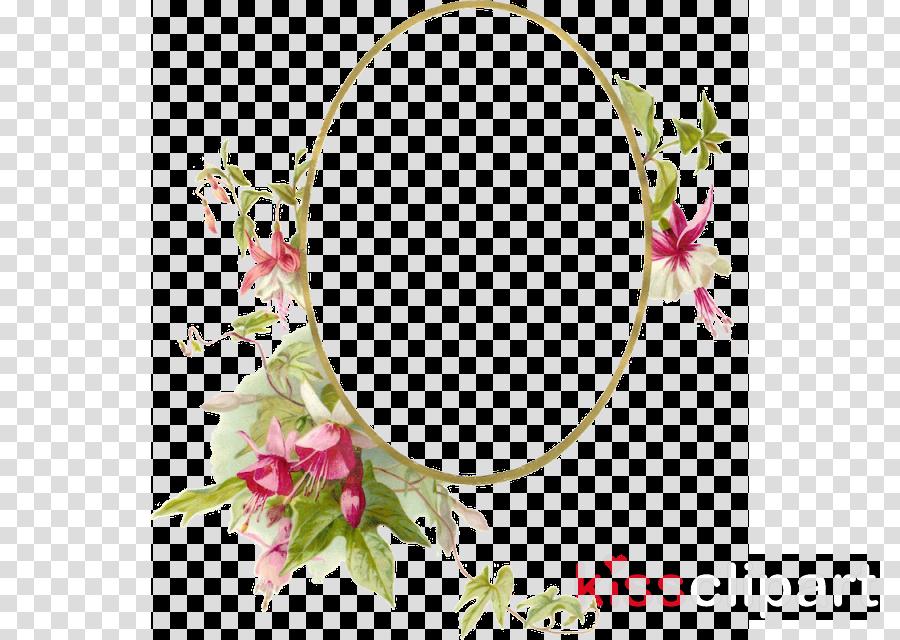 Vintage Flowers Frame clipart.