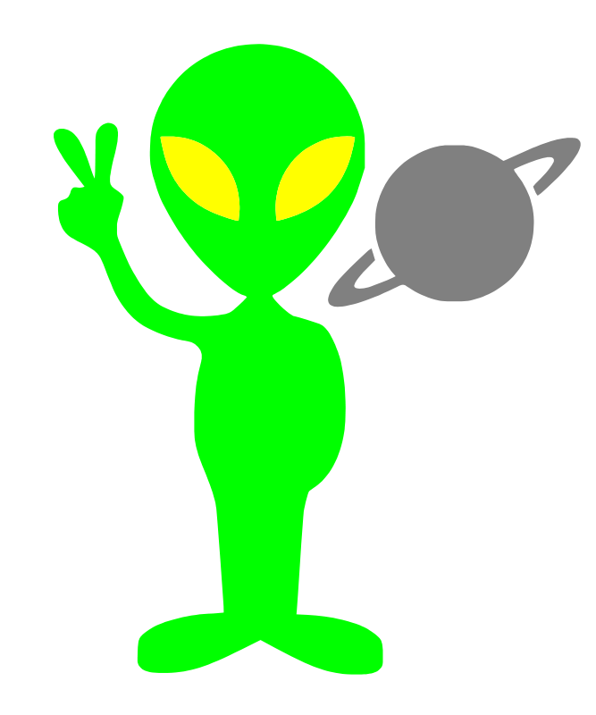 Free Clipart: Tobyaxis the Alien.