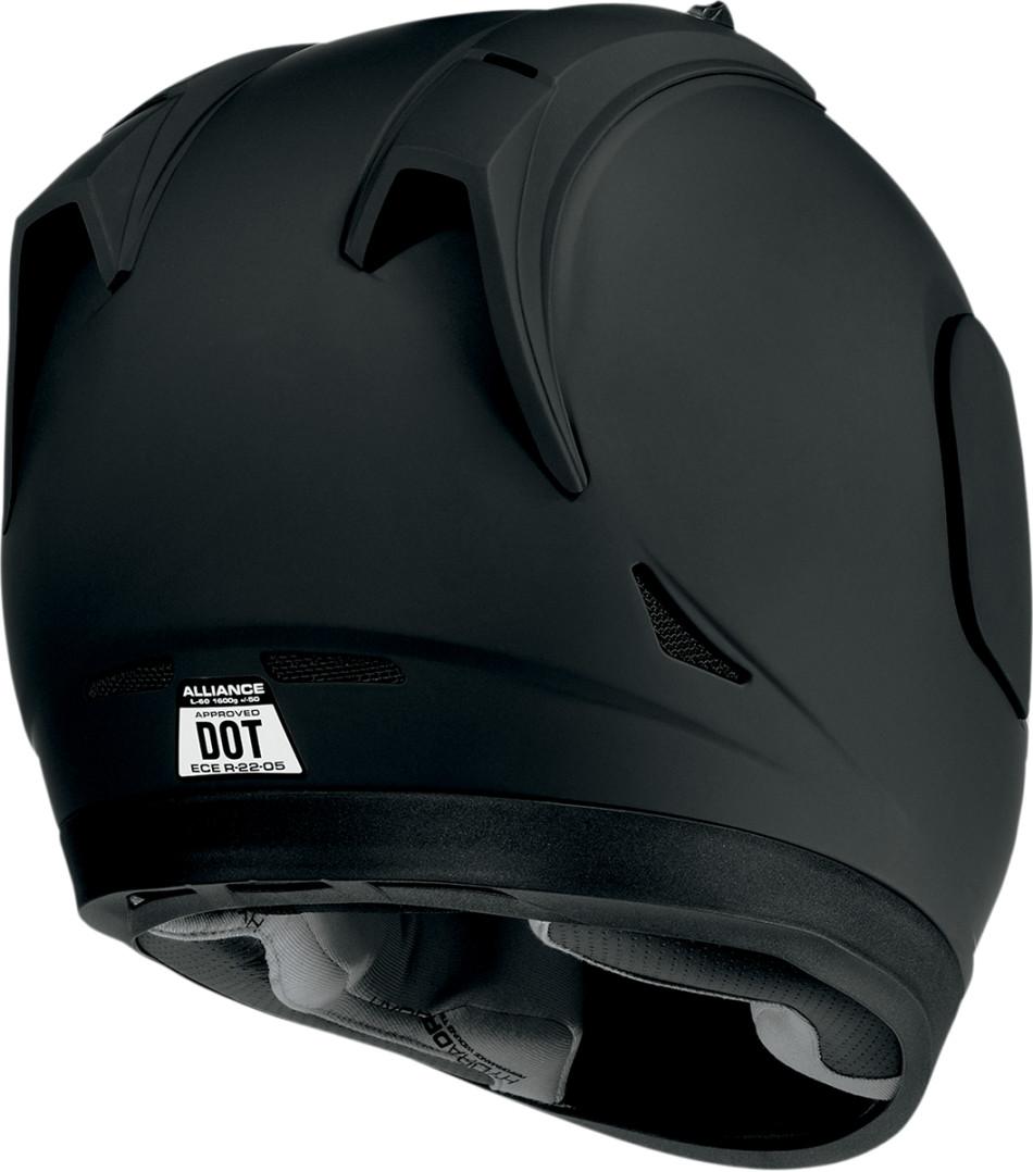 Icon Alliance Dark Black Motorcycle Full Face Helmet.