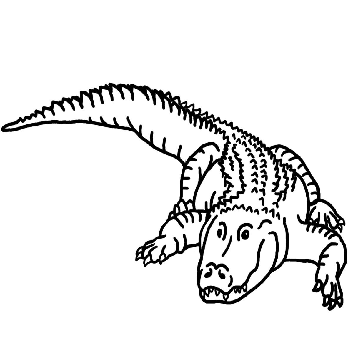Free Alligator Black And White Clipart, Download Free Clip.