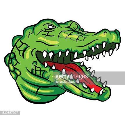 Crocodile Head Clipart Image.