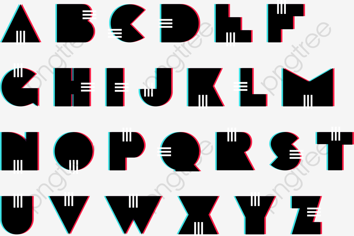 Vector Retro Alphabet Font, English Alphabet, Fonts, Vector PNG and.