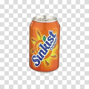 ORANGES oh my, Sinkist orange soda can illustration.