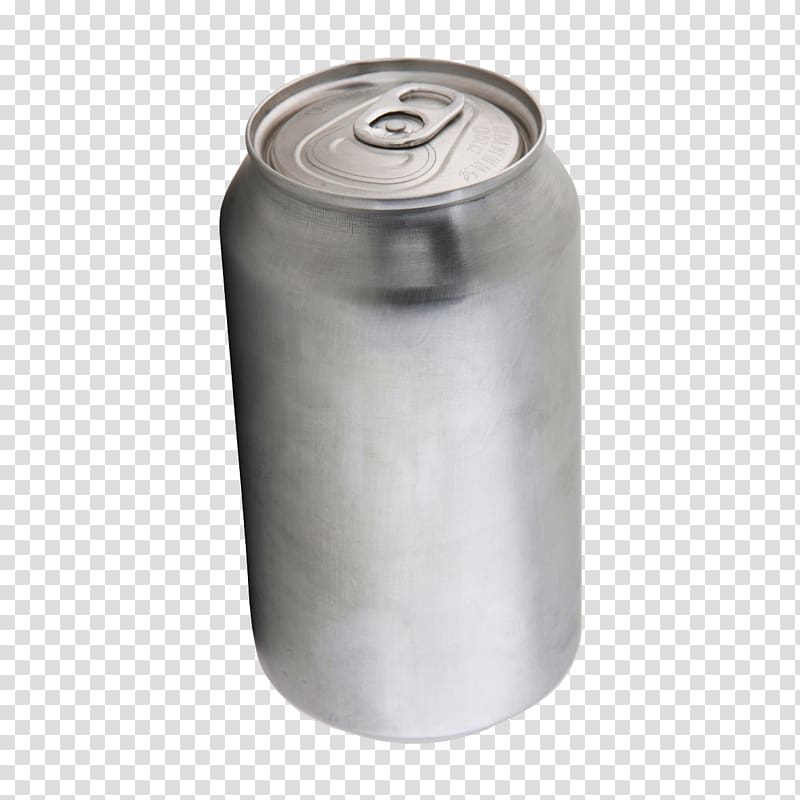 Silver can illustration, Tin can Aluminum can , Blank cans.