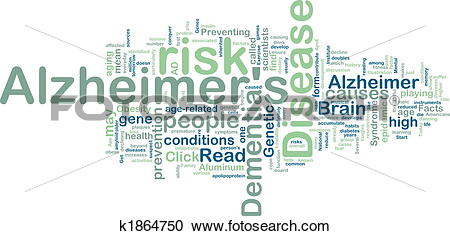 Stock Illustrations of Alzheimer's disease wordcloud k1864750.