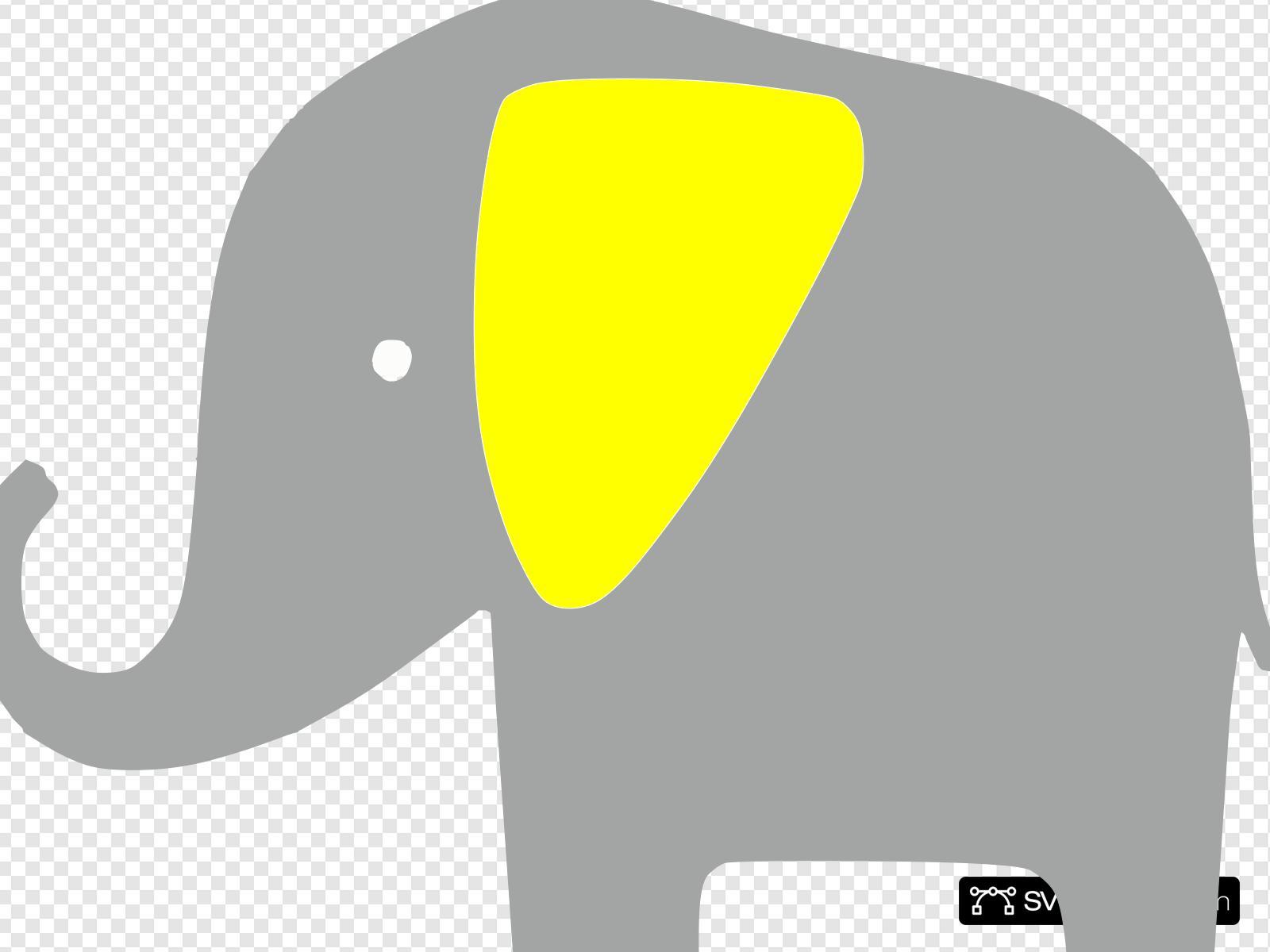 Elefante Amarillo Clip art, Icon and SVG.