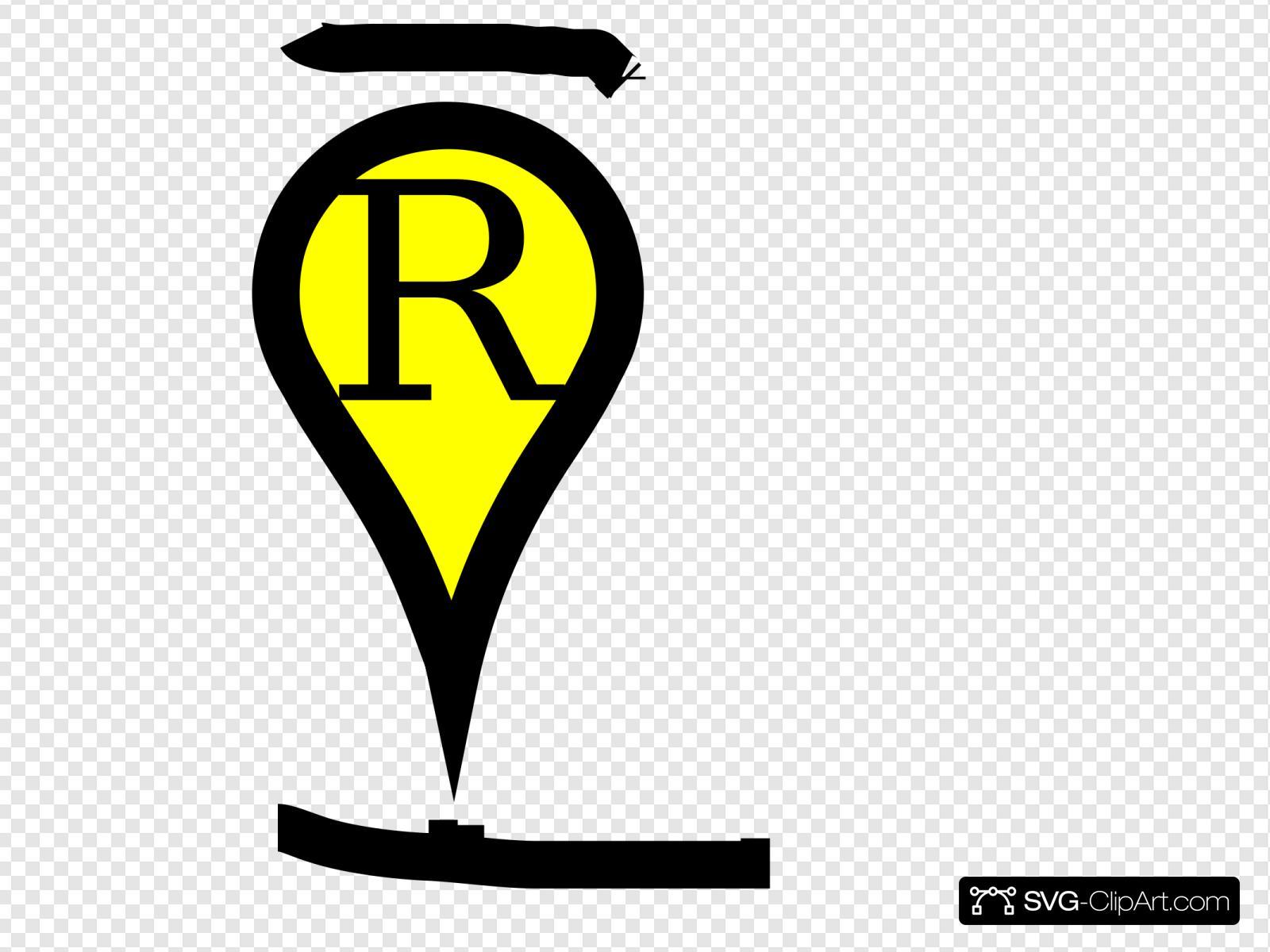 R Amarillo Clip art, Icon and SVG.