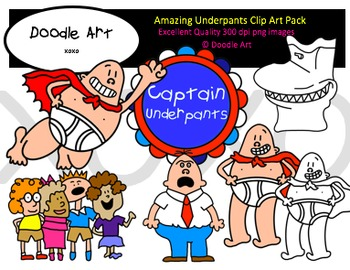 Amazing Underpants Clipart Pack.