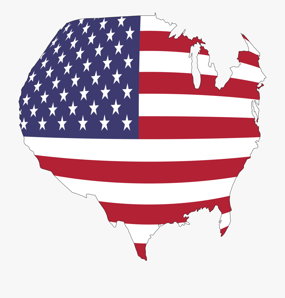 United States Map Globe Clipart.